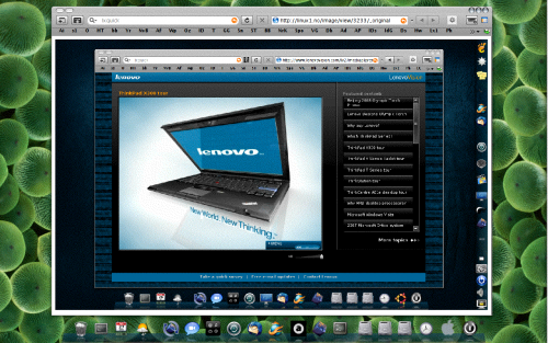 Xfce Ubuntu med Firefox